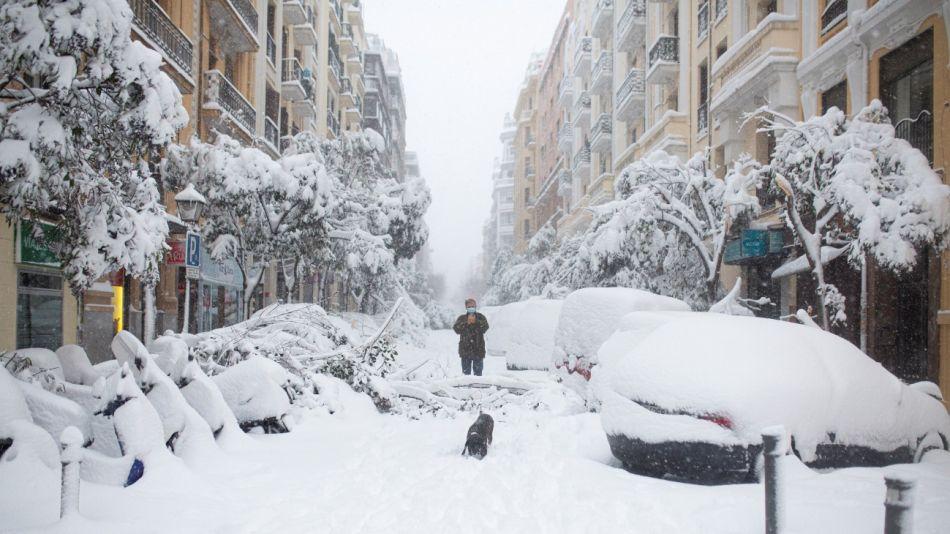 Madrid amaneció tapado por la nieve este 9 de enero.
