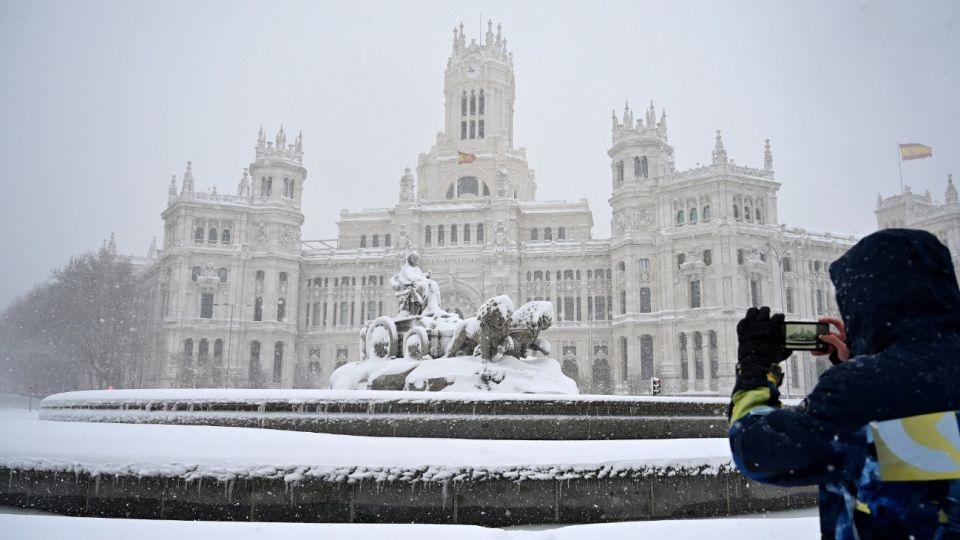 Madrid amaneció el 9 de enero tapado por la nieve.