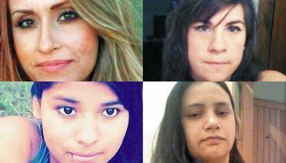 Víctimas. Gabriela Lencina quemada en Córdoba. A Florencia Ascaneo, Jéssica Paredes y Anabella Olmos las mataron en Buenos Aires.