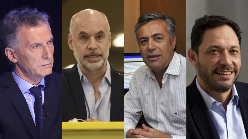 dirigentes que participaron del primer encuentro virtual de Juntos por el Cambio 20210111