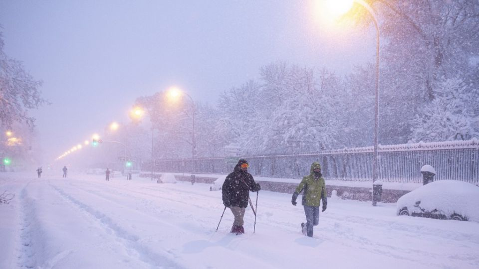 """Tormenta de nieve """"Filomena"""" en España."""