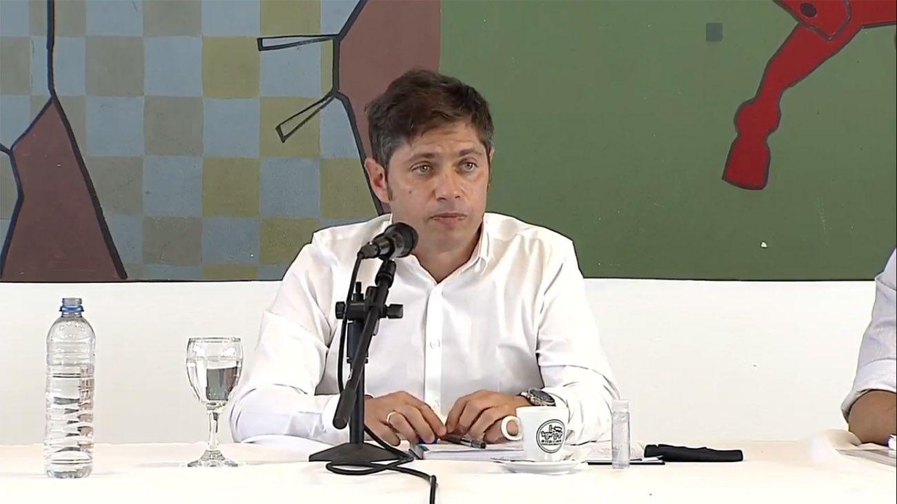 El gobernador de la provincia de Buenos Aires, Axel Kicillof