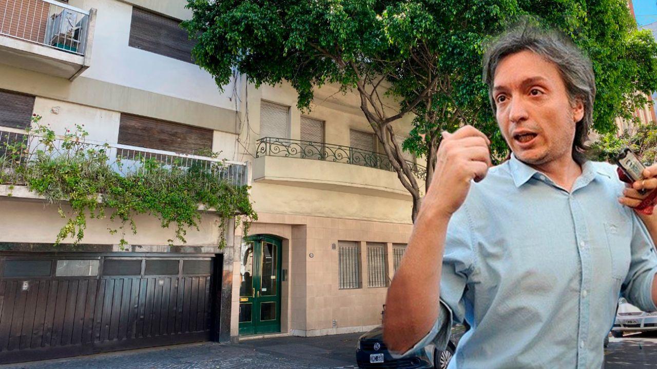 El departamento donde vive Máximo. Se lo presta el funcionario Gerónimo Ustarroz. | Foto:cedoc