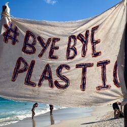 En su reciente limpieza en Tulum se recogieron 45 kilos de basura.