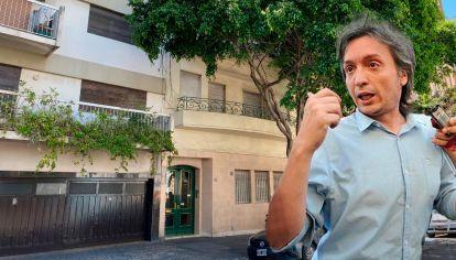 El departamento en el que vive Máximo Kirchner en la Ciudad es prestado