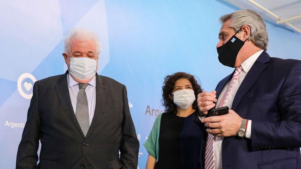Alberto Fernández, Ginés González García y Carla Vizzotti