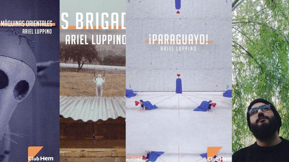 El escritor Ariel Luppino y sus tres novelas publicadas.