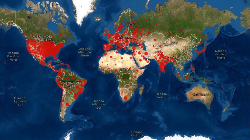Mapa del Mundo covid 19 20210113