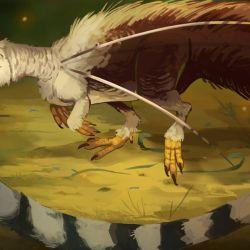 Tiene un largo pelaje, enorme cola y unas curiosas y temerosas agujas que le crecen en sus hombros.