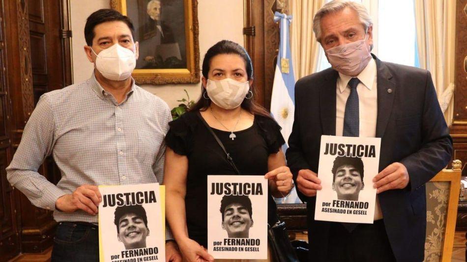 El presidente Alberto Fernández recibió a los padres de Fernando Báez Sosa.