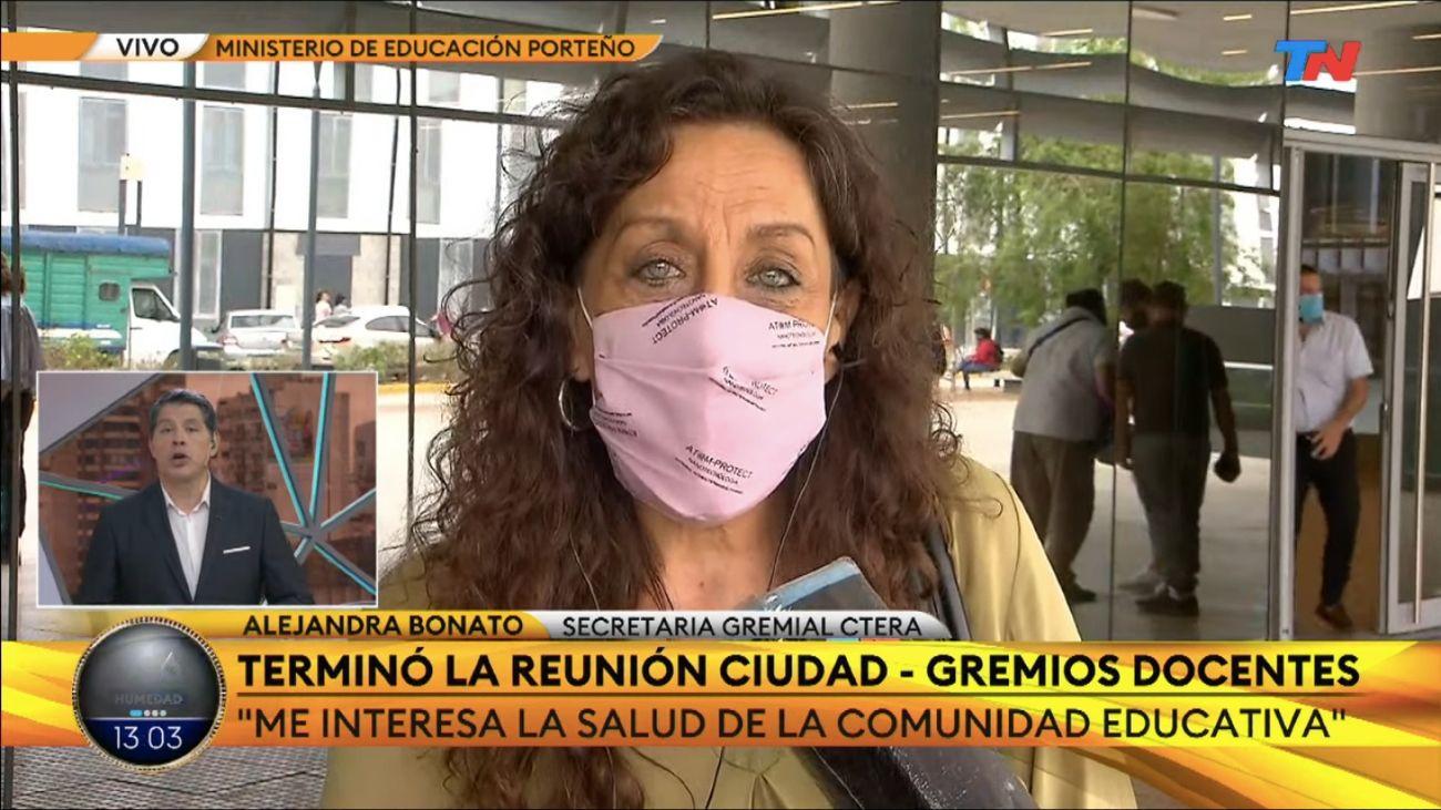 Alejandra Bonato, secretaria gremial de CTERA.