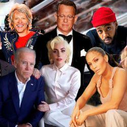 Arriba: Justin Timberlake - Jon Bon Jovi - Tom Hank - Ant Clemos - Demi Lovato / Abajo: Joe Biden y Lady Gaga - Jennifer López | Foto:Montaje
