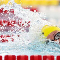 Haley Anderson compite en la final de 800 metros estilo libre femenino el primer día de la TYR Pro Swim Series en San Antonio, Texas. | Foto:Maddie Meyer / Getty Images / AFP