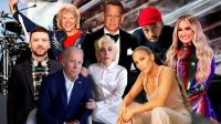 Arriba: Justin Timberlake - Jon Bon Jovi - Tom Hank - Ant Clemos - Demi Lovato / Abajo: Joe Biden y Lady Gaga - Jennifer López