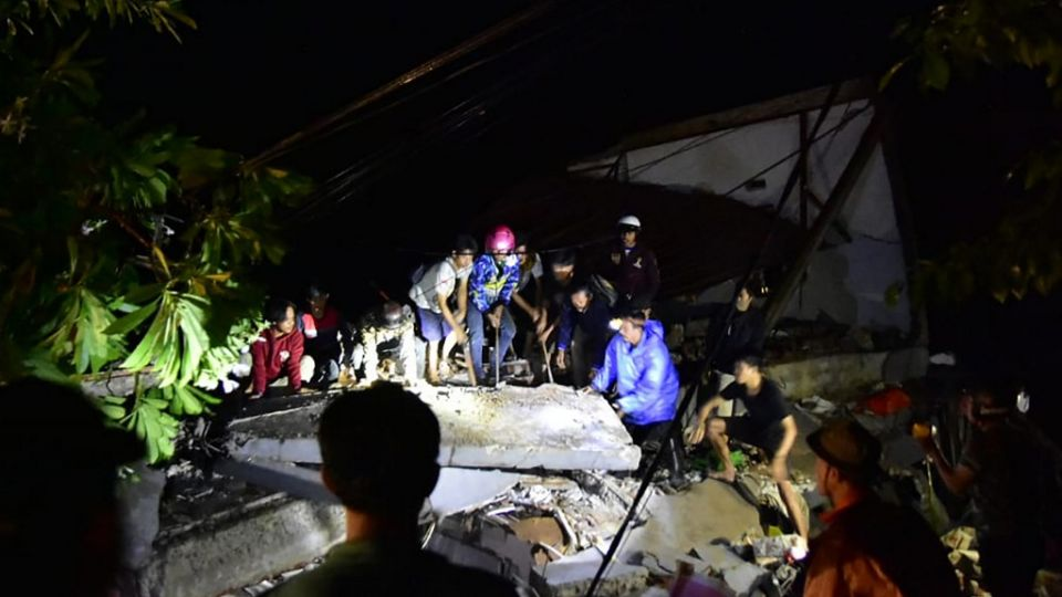 Terremoto de 6,2 grados en Indonesia el 15 de enero de 2021.