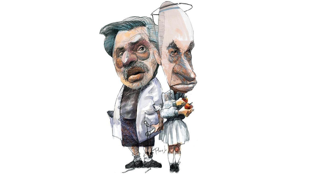 Guardapolvos, Alberto Fernández y Rodríguez Larreta.