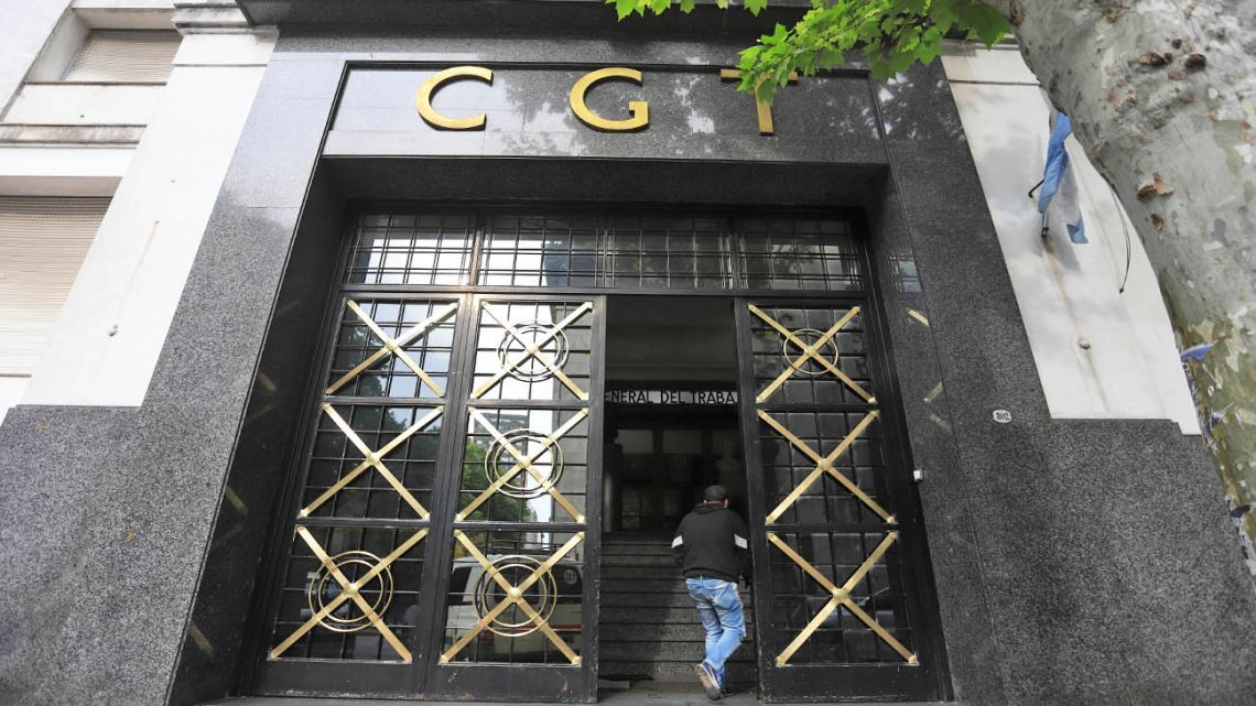 CGT headquarters in Buenos Aires.