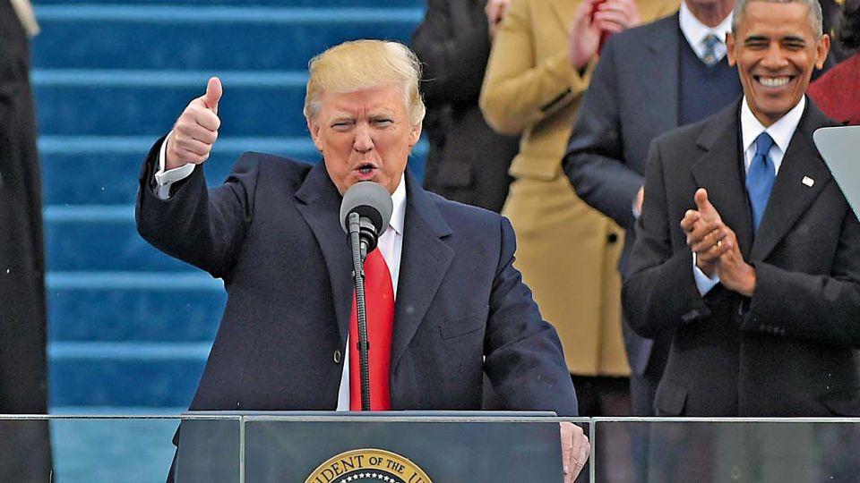 """Trump. """"No nos intimidarán con las mentiras de las últimas semanas"""", arrenga irresponsable."""