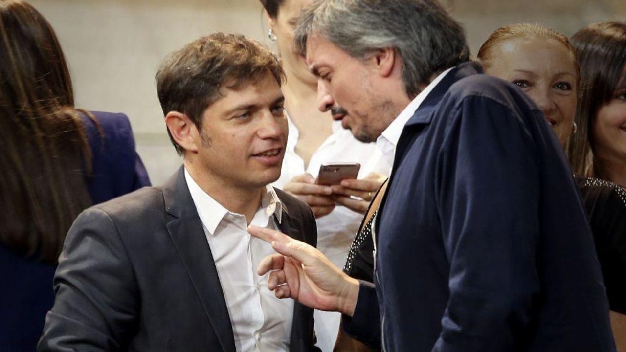 Axel Kixillof y Máximo Kirchner