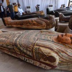 Los sarcófagos estaban enterrados en pozos que alcanzaban los 12 metros de profundidad.