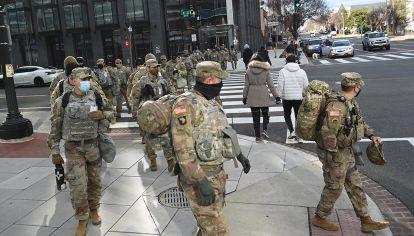 Operativo de seguridad en el capitolio y Washington