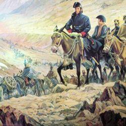 Para asegurar el éxito de la misión, San Martín dividió al Ejército de los Andes en seis columnas.
