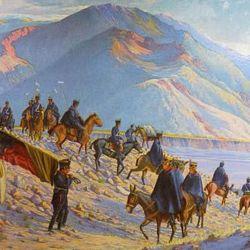El grueso del ejército al mando de San Martín tomó la ruta popularmente conocida como Paso de Los Patos.