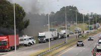 protesta de camioneros en Rosario 20210119