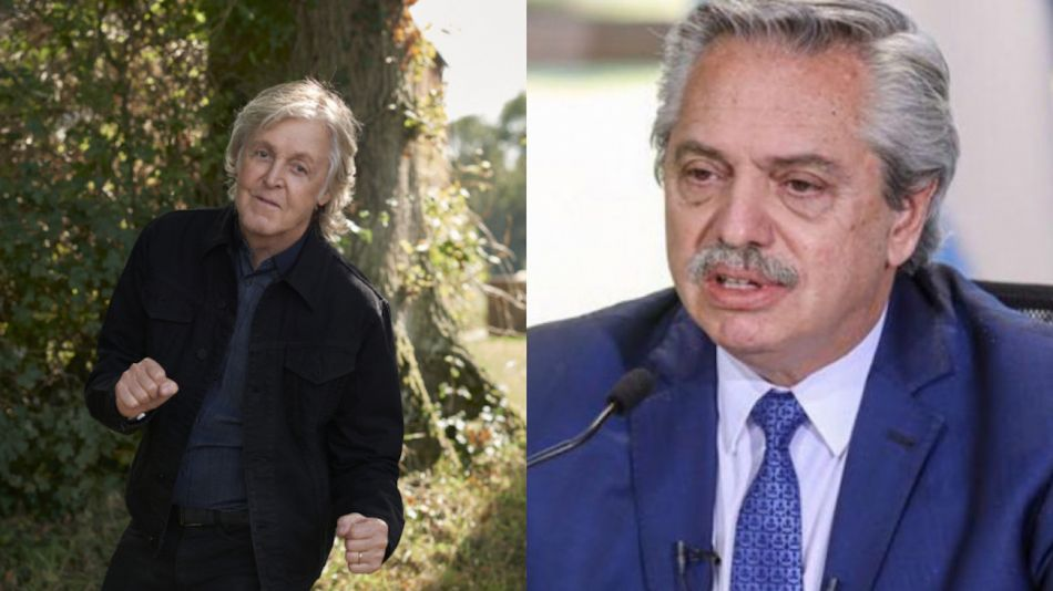 Paul McCartney y Alberto Fernández