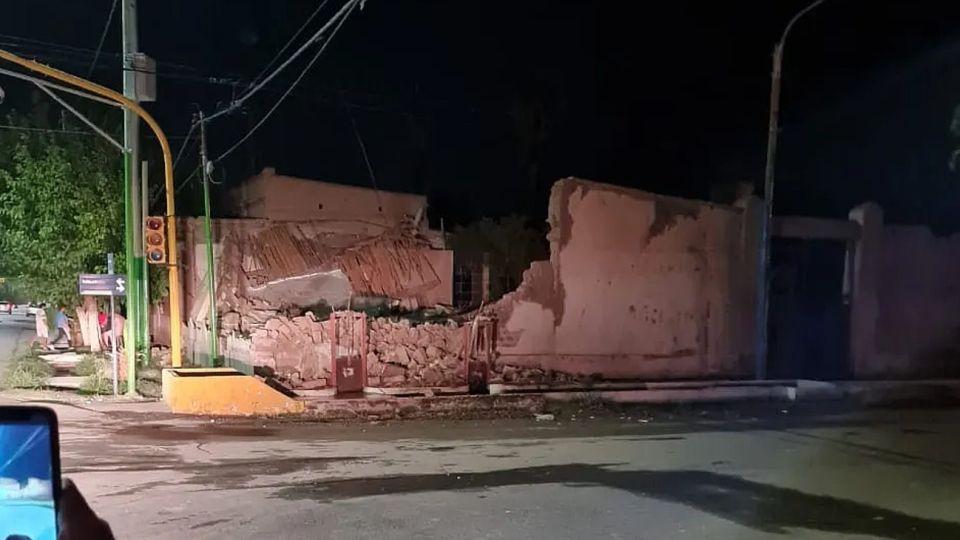 Las consecuencias del sismos de 6.4, ocurrido en la provincia de San Juan.