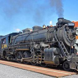 En el Steamtown National Historic Site se pueden realizar paseos en algunas de sus viejas locomotoras a vapor., d