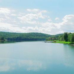 En el Lackawanna State Park se puede navegar a vela o patinar por sus 80 hectáreas de extension.