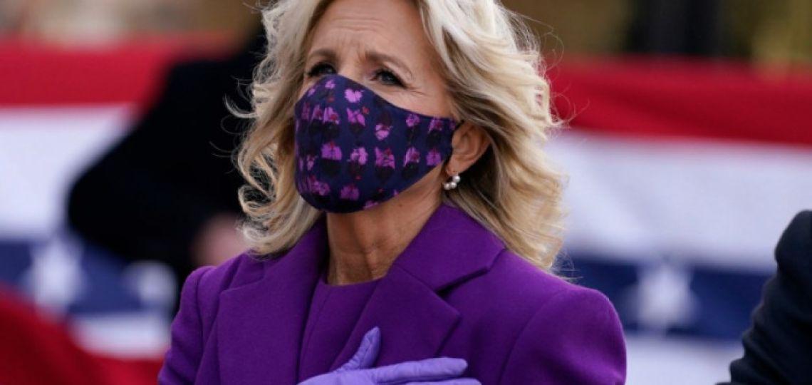 El look ecofriendly de Jill Biden en su llegada a Washington