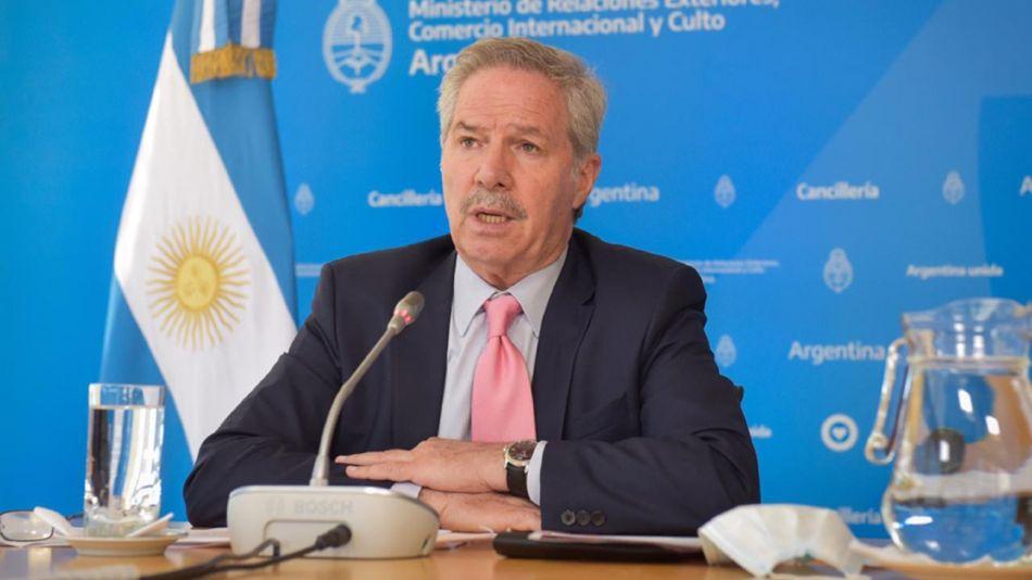 Felipe Solá, titular de Cancillería.