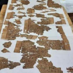El misterioso papiro tiene una extensión cercana a los 4 metros.