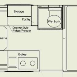 El interior ofrece comodidades para hasta 4 personas.
