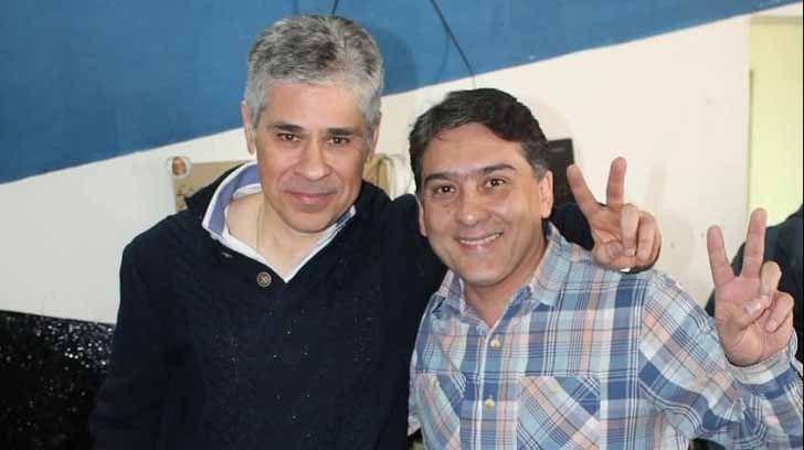 El diputado por Santa Cruz, Pablo González, y Jorge Verón excandidato en Río Turbio.