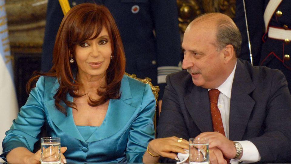 José Pampuro con Cristina Kirchner, en 2008.