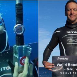 La hazaña tuvo lugar el pasado 17 enero, cuando Boudhiaf permaneció bajo el 3:43 minutos para lograr la impresionante marca de 150 metros de profundidad.