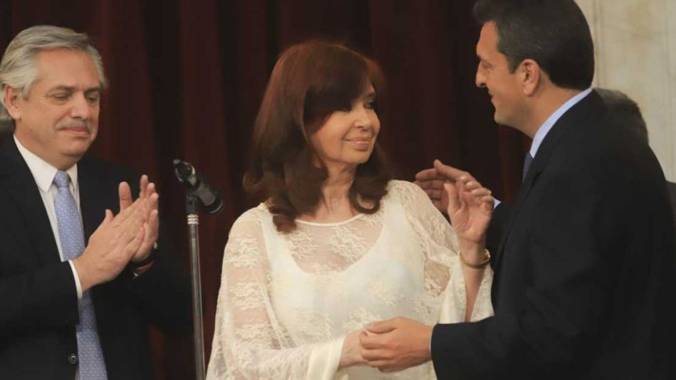 Cristina Kirchner, Sergio Massa y Alberto Fernández.