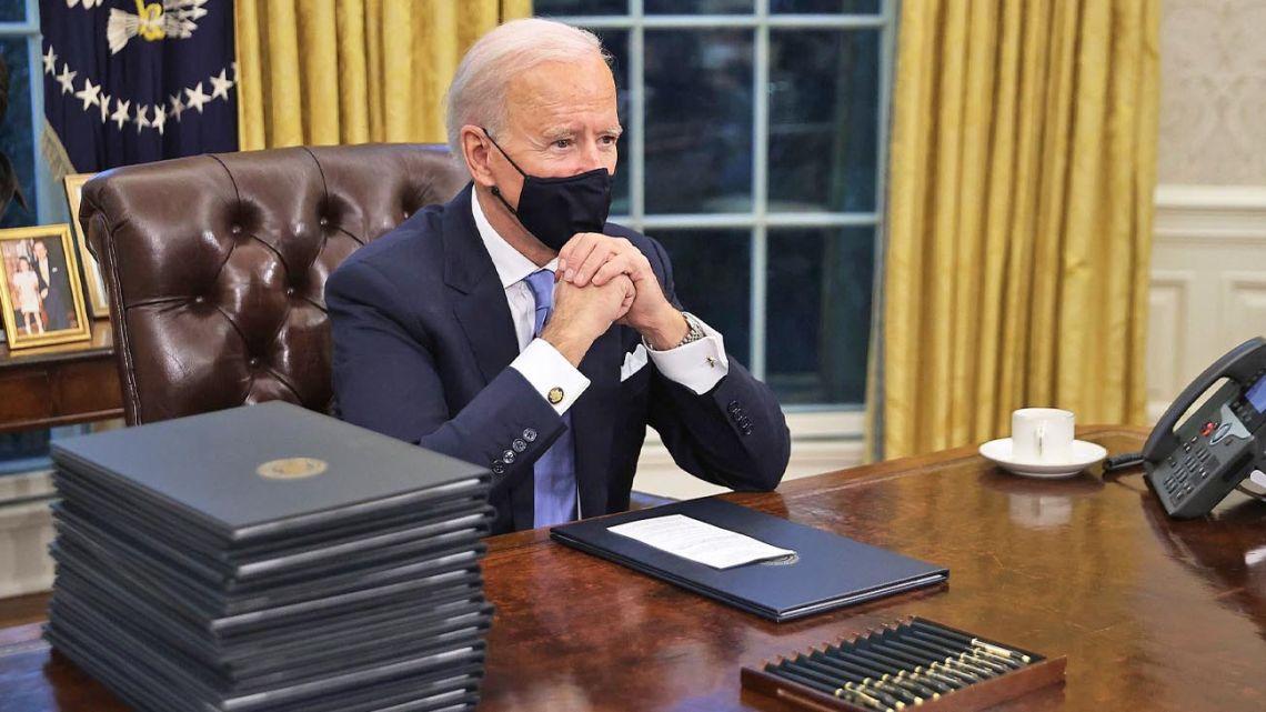 Joe Biden in the White House.