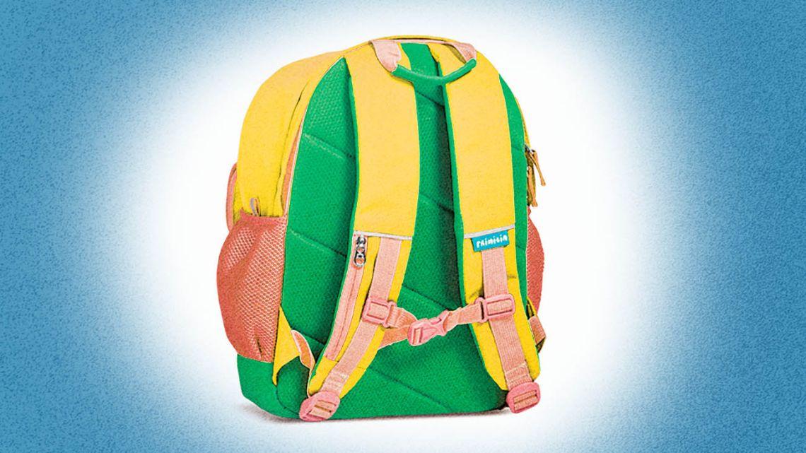 A school bag as a symbol of schooling.