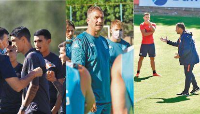 Arranques. Falcioni tuvo ayer su primera práctica con el plantel de Independiente. Pizzi, recién asumido en Racing. Y Davobe pasó de Argentinos a San Lorenzo.