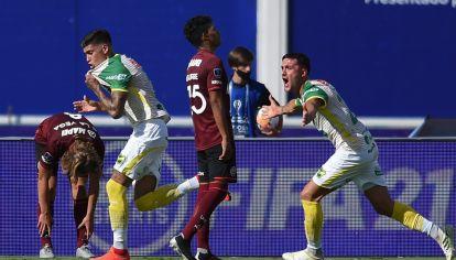 Campeón. Defensa y Justicia celebró en Córdoba su primer título: la Copa Sudamericana 2020.
