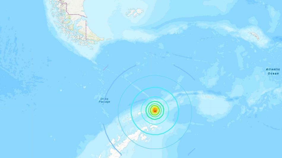 Terremoto en la Antártida.