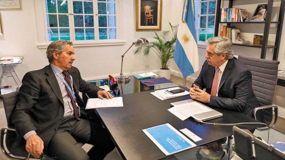 El presidente Alberto Fernández y el canciller Felipe Solá.