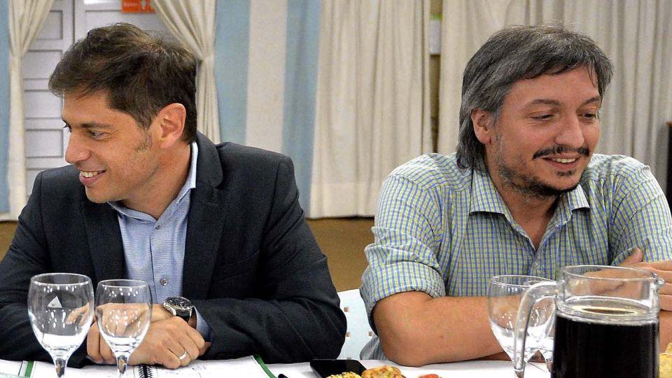 Herederos del kirchnerismo en su territorio más preciado, el bonaerense, Axel Kicillof y Máximo Kirchner.