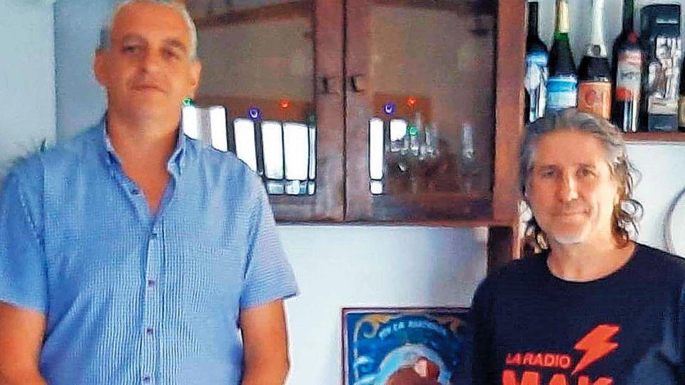 Visita. Pietragalla estuvo con el ex vice el último 30 de diciembre.