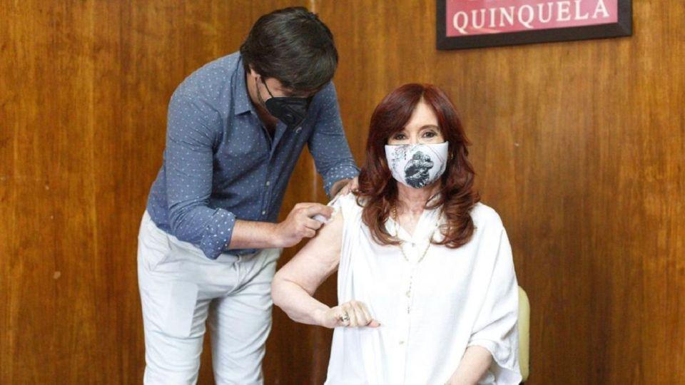 Cristina Kirchner junto a Nicolás Kreplak.