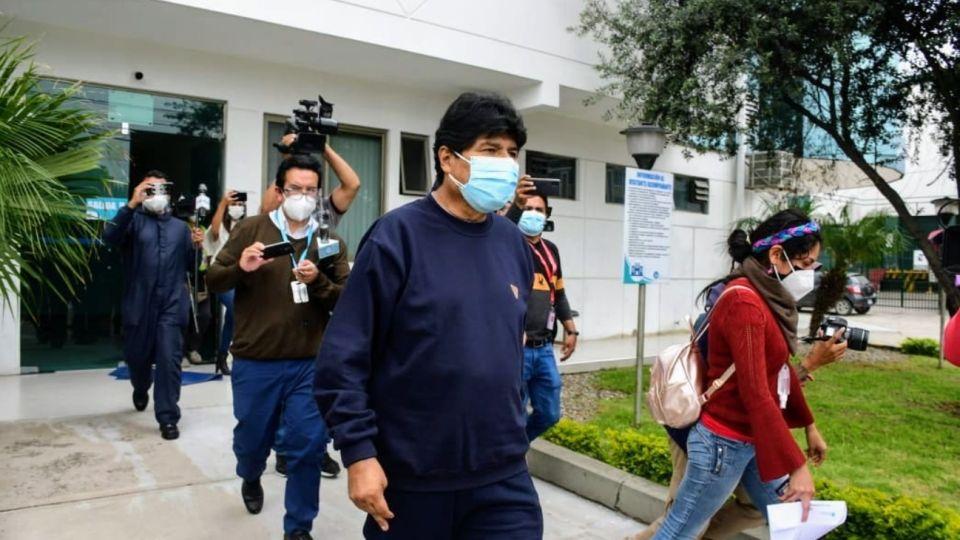 Evo Morales fue dado de alta tras estar internado por Covid-19.